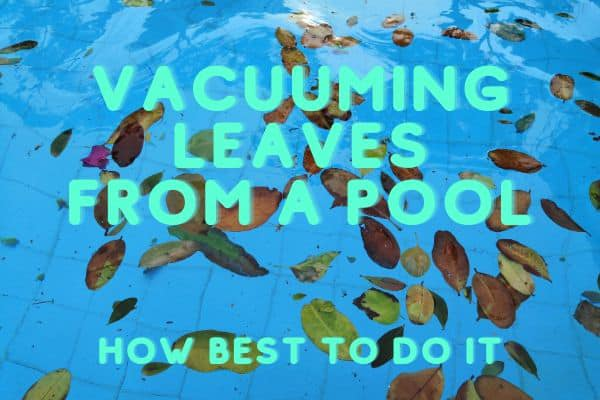 vacuuming leaves from a pool