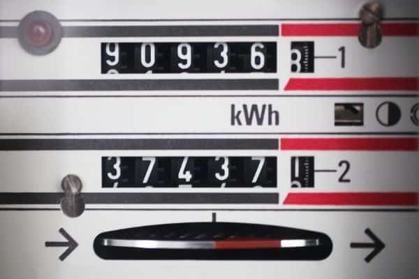 Electricity Meter Non-Peak Utility Hours