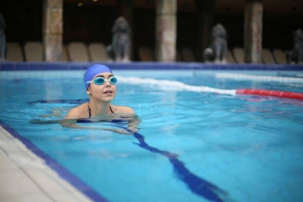 Reducing your reaction to chlorine in your pool - wear googles
